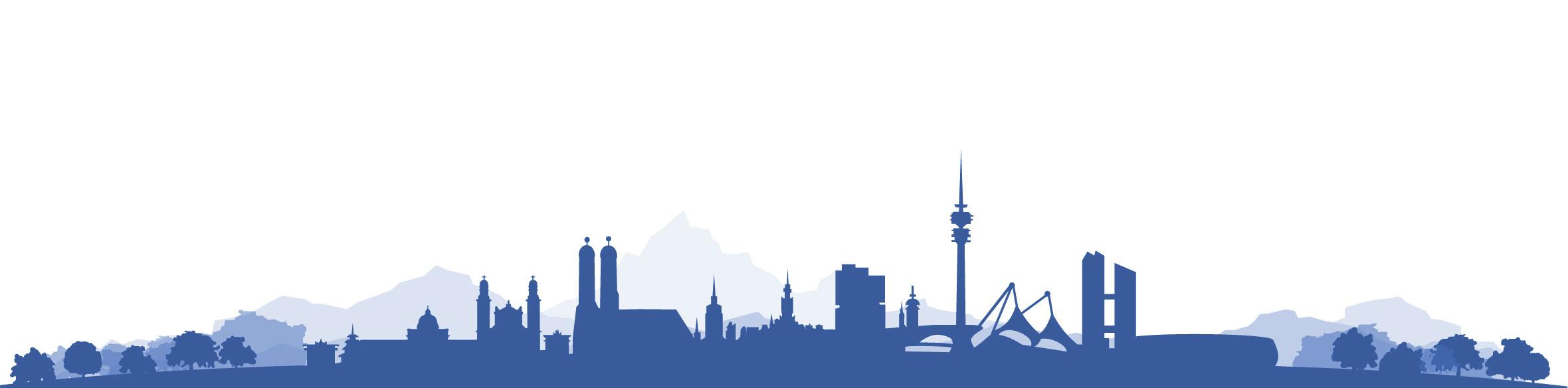 Skyline-blau